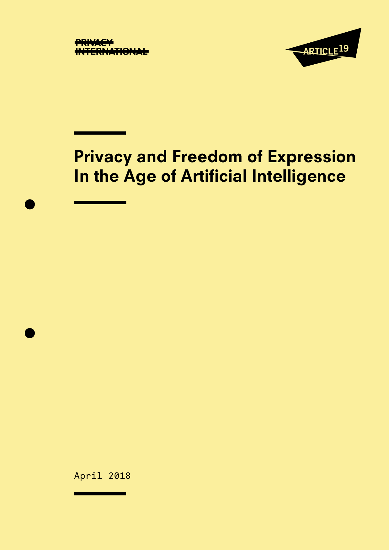 AI tools threaten right to privacy and freedom of expression – report