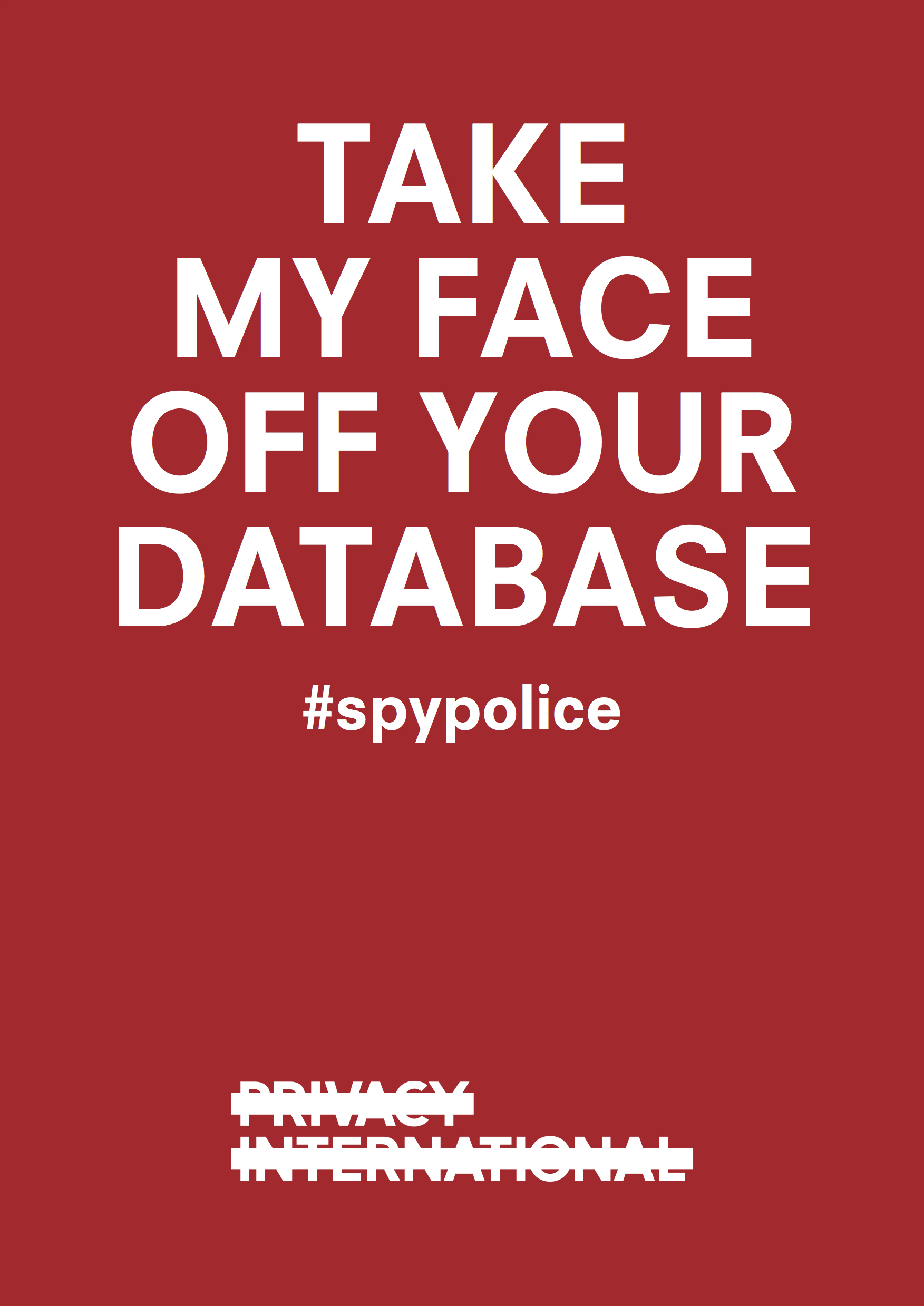 Take my face off your database poster