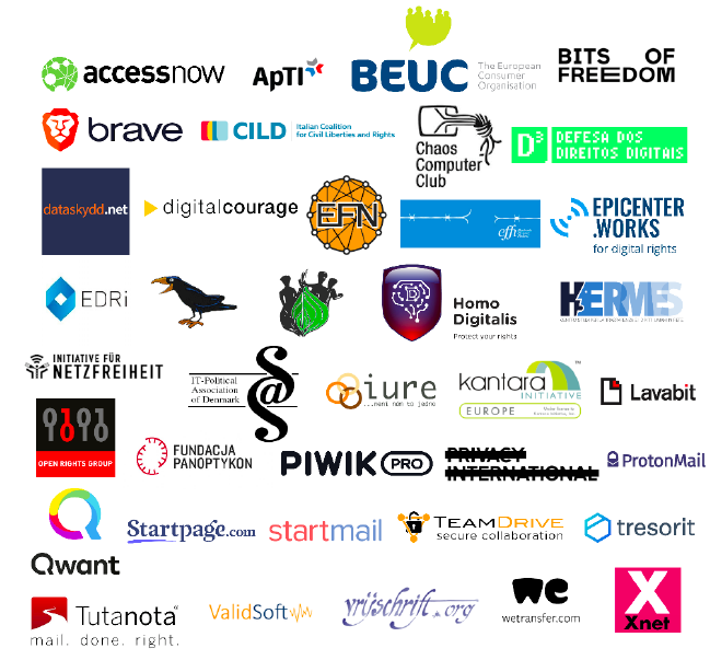 Open letter to EU member states from consumer groups, NGOs and industry representatives in support of the ePrivacy Regulation