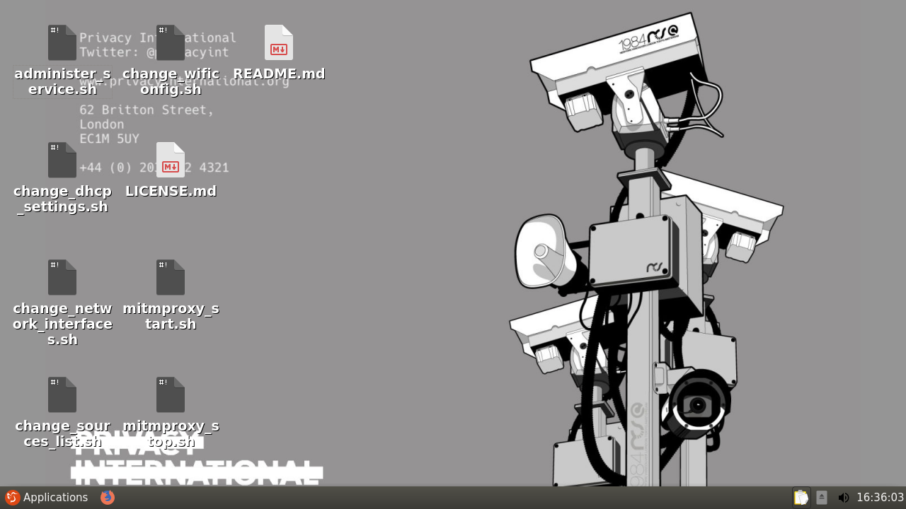 Privacy International's data interception environment