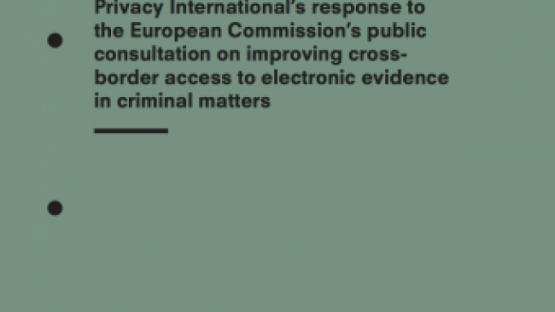 Privacy International's response to the European Commission's public consultation on improving cross-border access to electronic evidence in criminal matters