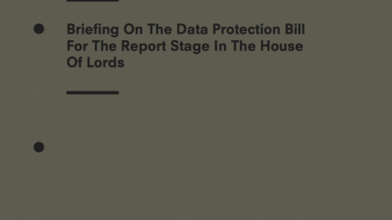 Privacy International's Briefing on the UK Data Protection Bill at House of Lords Report Stage
