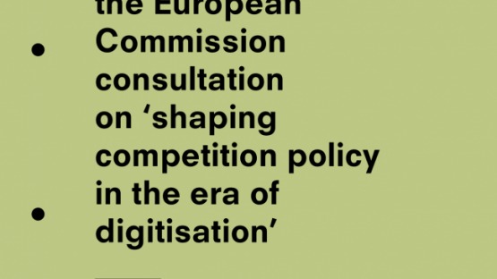Privacy International's submission to the European Commission consultation on 'shaping competition policy in the era of digitisation'