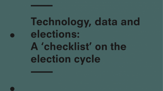 Technology, data and elections