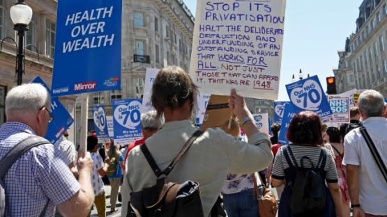 NHS Protest London - Health Over Wealth!