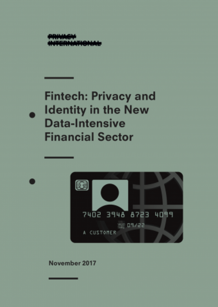 Fintech: Privacy and Identity in the New Data-Intensive Financial Sector