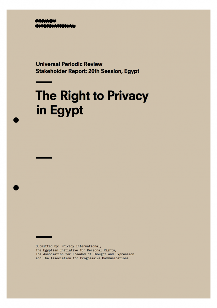The Right to Privacy in Egypt