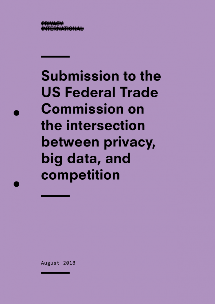 Submission to the US Federal Trade Commission on the intersection between privacy, big data, and competition