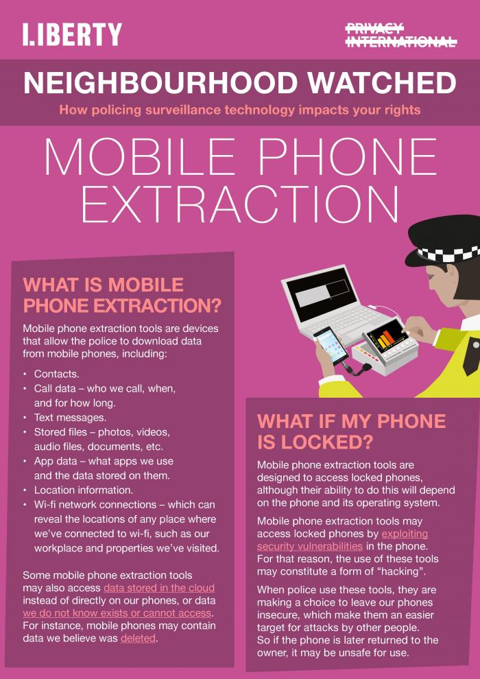 mobile phone extraction explainer