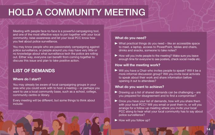 hold a community meeting