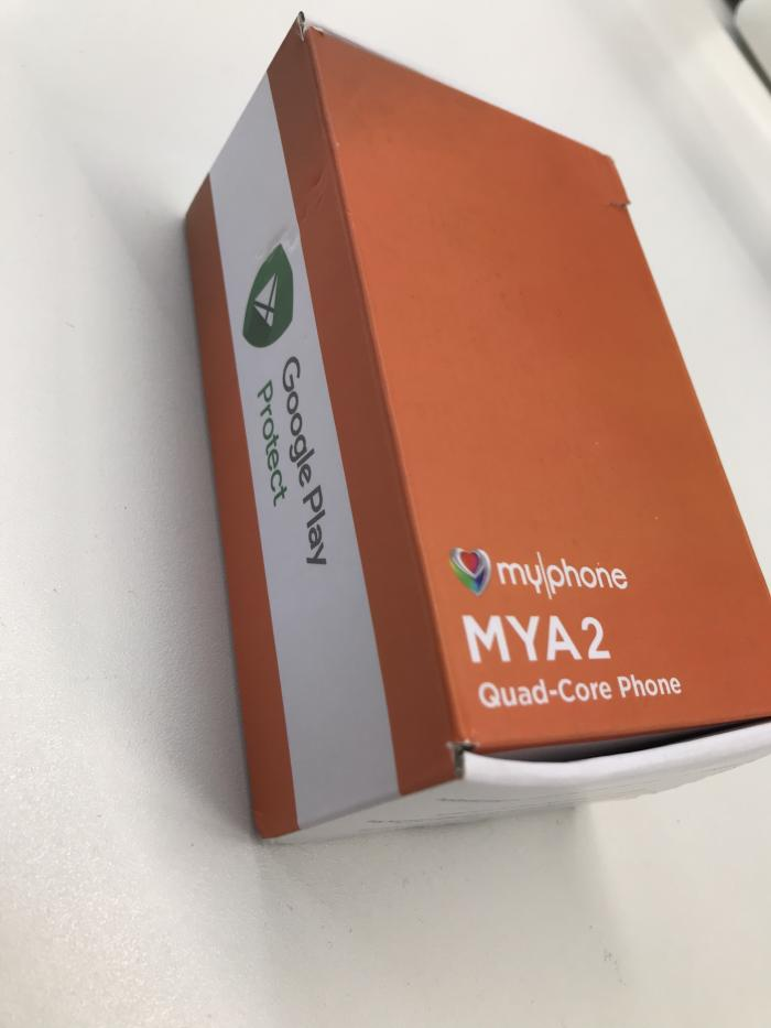The MYA2 box with Play Protect label