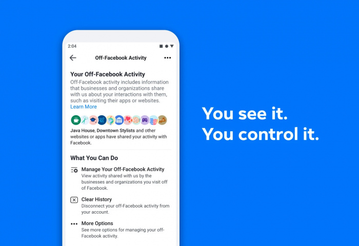 Facebook annoucement of Off-Facebook