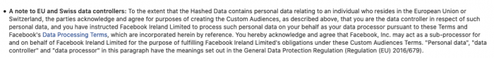 FB Custom Audiences Term