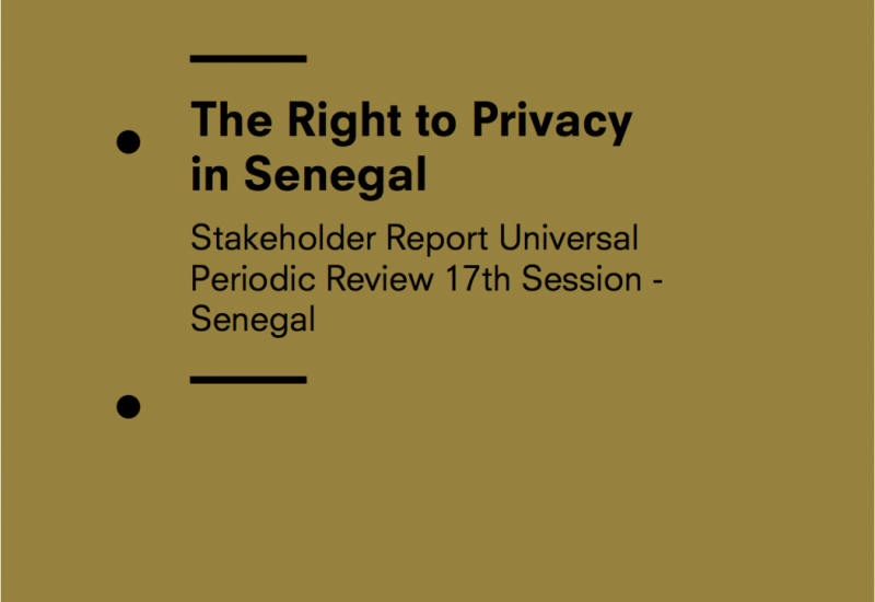 The Right to Privacy in Senegal