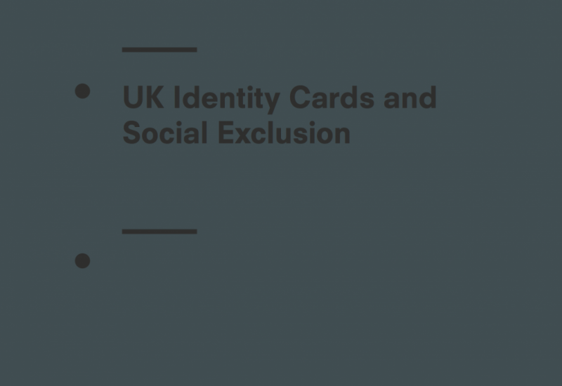 United Kingdom Identity Cards and Social Exclusion