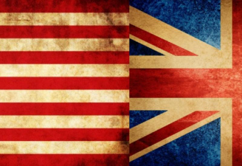 UK USA flags
