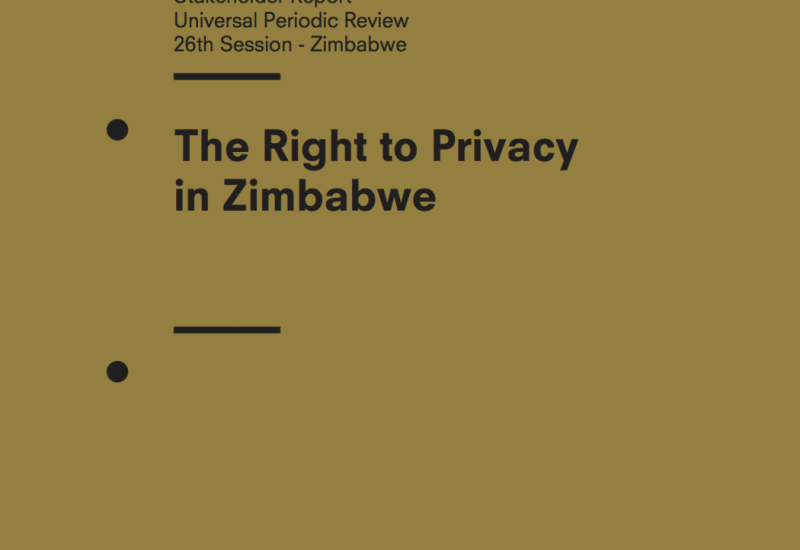 The Right to Privacy in Zimbabwe