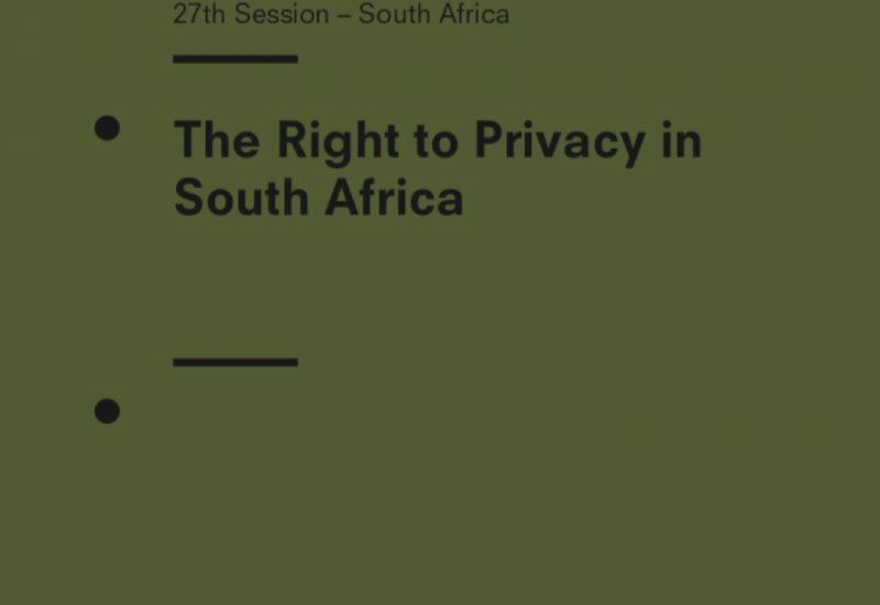 The Right to Privacy in South Africa