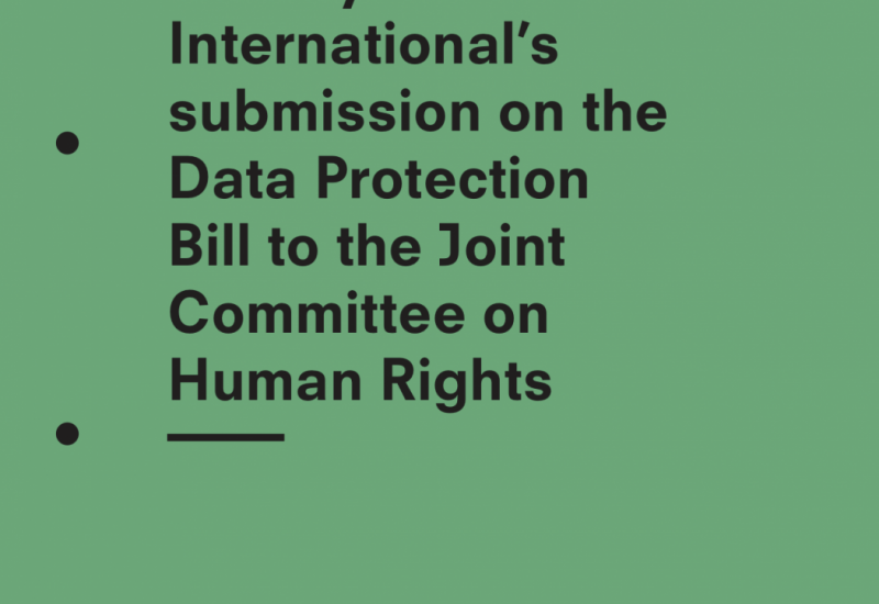 Submission on the Data Protection Bill to the Joint Committee on Human Rights