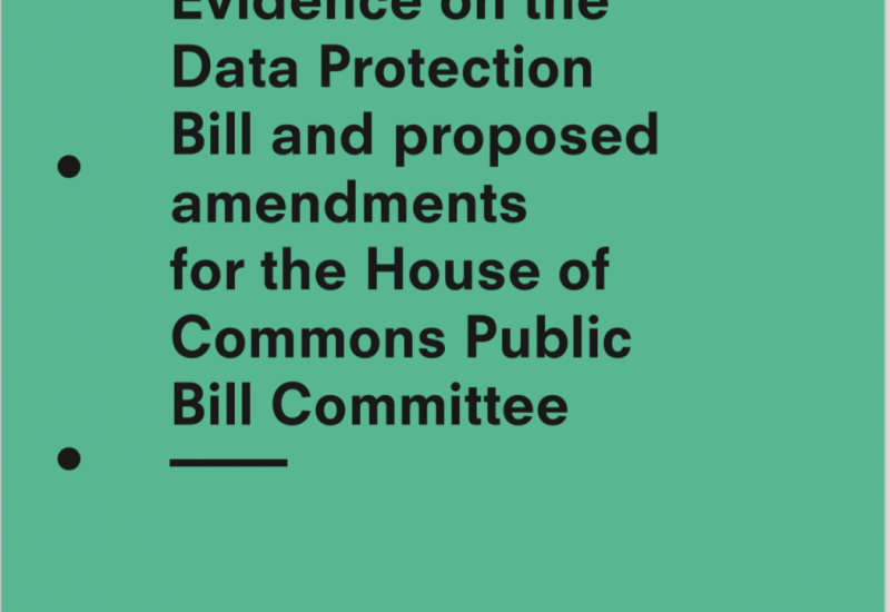 Submission on Data Protection Bill to Public Bill Committee