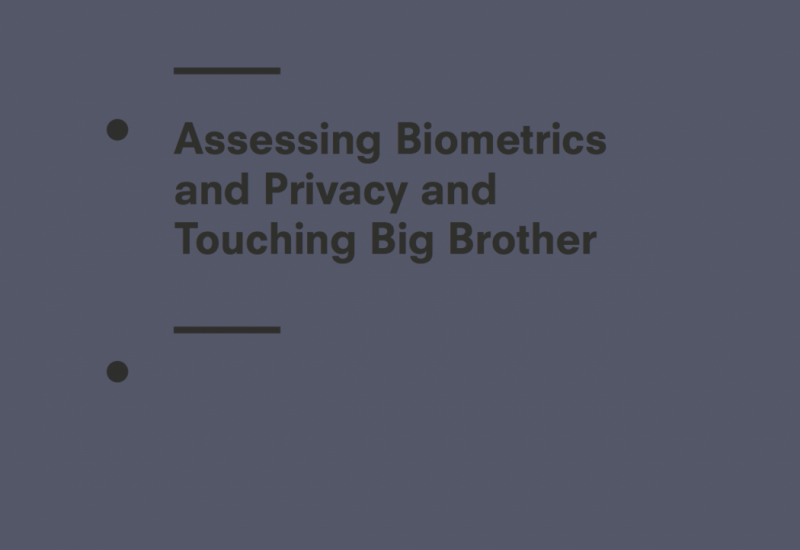 Biometrics: authentication and identification (2019 review)