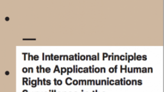 The International Principles on the Application of Human Rights to Communications Surveillance in the jurisprudence of regional human rights courts