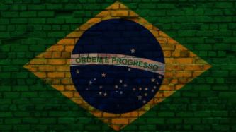 Brazilian flag made of bricks