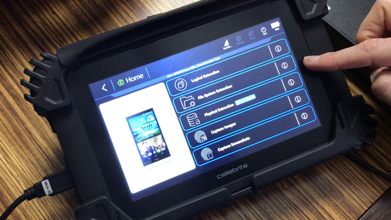 Cellebrite UFED Touch 2 options