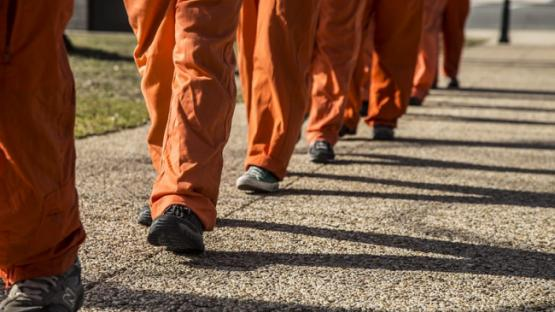 prisoners walking
