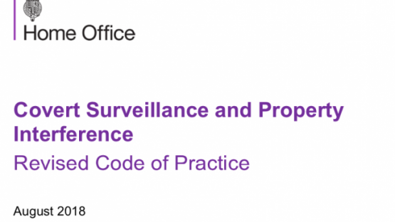 Home Office covert surveillance and property interference code