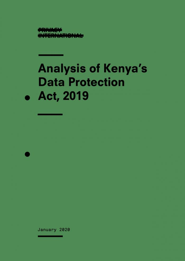 Cover - Kenya DPA 2019 analysis