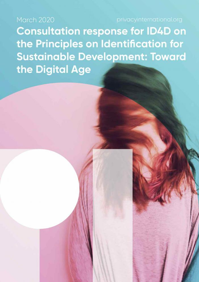 Consultation cover of our ID4D report