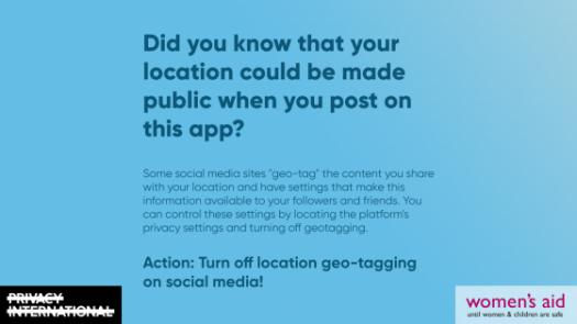 Did you know that your location could be made public when you post on apps?