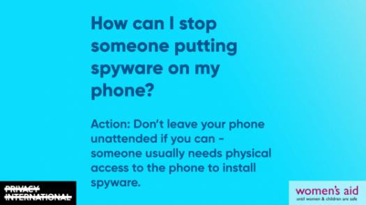 How can I stop someone putting spyware on my phone? (media card)