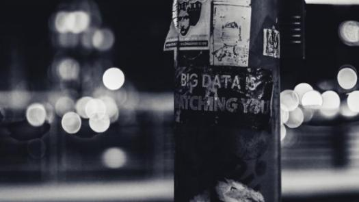 poster saying Big Data Is Watching