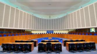 Picture of courtroom ECHR