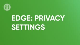 Edge Privacy Settings